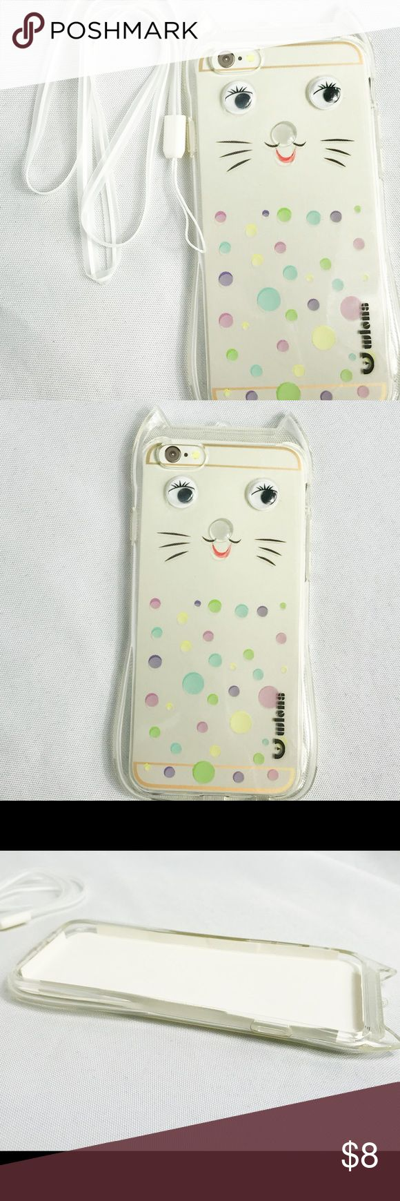 Pretty Cute Kitty Phone Case Apple iPhone 6 Tired of having a regular cellphone case with no glam or personality? Try this cute kitty iPhone 6 bumper case! The beautiful crystal glam will have your admirers mesmerized! This 3D cover is only available for the iPhone 6. This is the best iPhone 6 cover with free shipping, just in time for Christmas. The silicone material that includes wrist straps protects your Apple iPhone 6 from dirt and dust. Get the best cheap phone cover for a fraction of…
