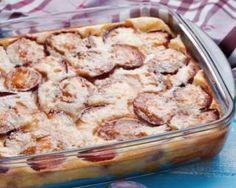 Clafoutis aux prunes poids plume : http://www.fourchette-et-bikini.fr/recettes/recettes-minceur/clafoutis-aux-prunes-poids-plume.html