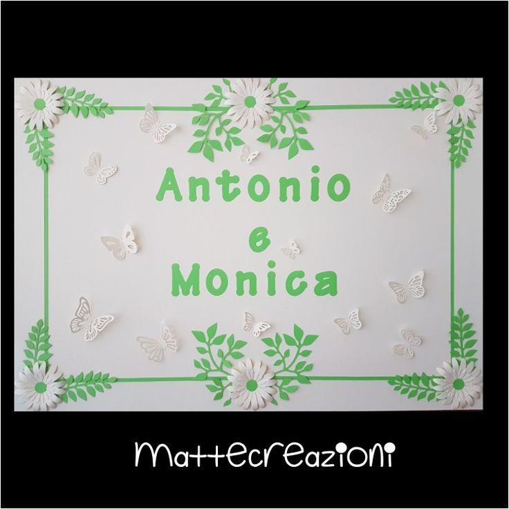 Pannello decorativo per confettata - realizzato a mano in carta 50×70