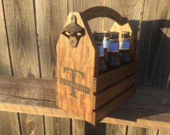 Regalo de padrinos de boda personalizado madera de presentaron de 12 oz rústico de 6-pack de cerveza botella portadora seis pack homebrew tote nuevo regalo boda del día del padre