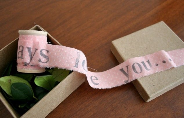 Unraveling a Letter - 21 Creative DIY Valentine Day Gifts For Him