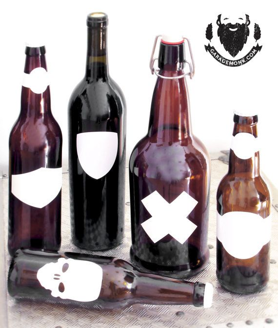 Vinyl bottle labels blank custom shapes water proof by garagemonk com