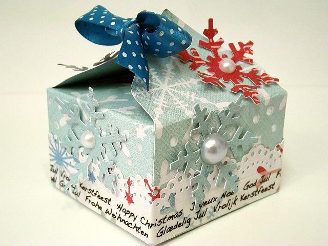 Moja inspiracja dla Piątek Trzynastego: Papiery do scrapbookingu Piątek Trzynastego: A small gift-box/ Małe pudełko prezentowe