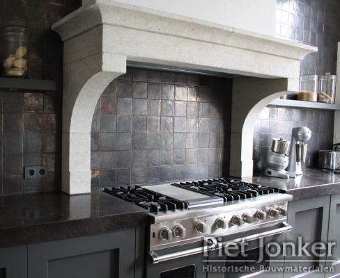 Metallic Glazed Tile Backsplash - what an awesome look!!!