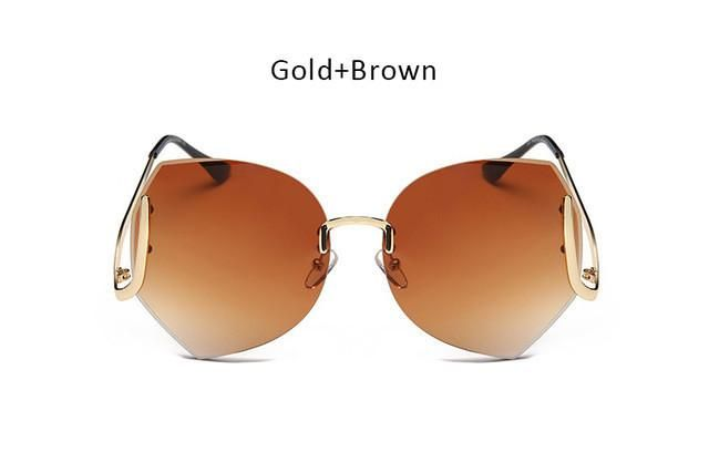 b66a609b318 Color Gradient Diamond Cut Sunglasses