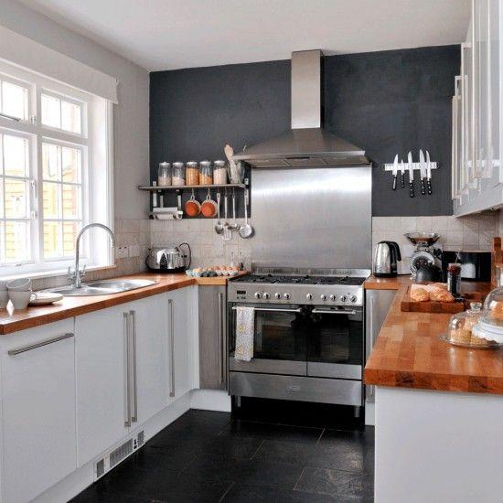White Gloss Kitchen Oak Worktop: Best 25+ Slate Kitchen Ideas On Pinterest