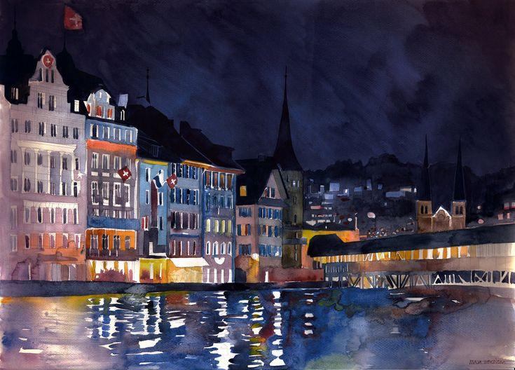watercolor 39x27 cm This watercolour was made as tutorial on our classes / jeśli masz ochotę nauczyć się malować akwarelą zapraszamy : akwarela.eu/ FB www.facebook.com...