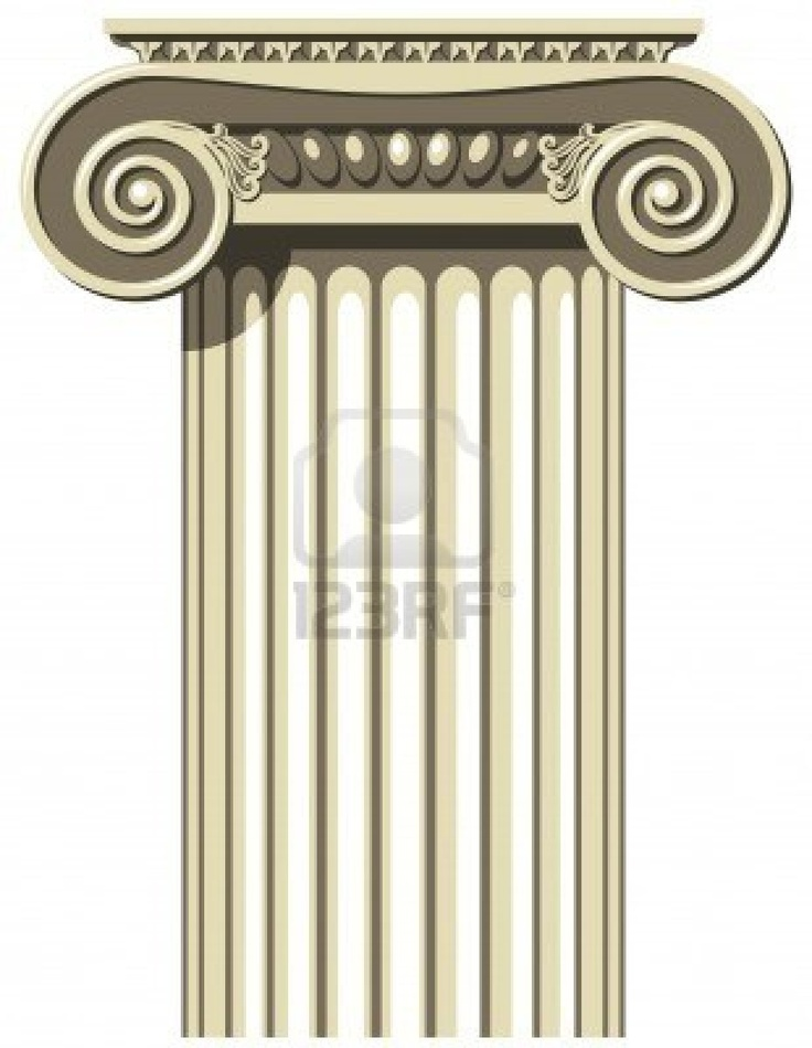 Vector illustration of a Greek Ionic Column // I think this shape would be good for our columns.