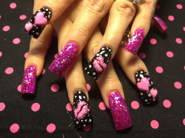 3-d pink hearts and lips by Oli123                                                                                                                                                                                 More