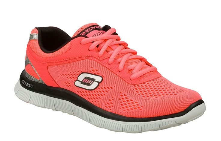 Skechers SK11728 Ladies Flex Appeal - Love Your Style Lace Up Trainer Shoe - Robin Elt Shoes  http://www.robineltshoes.co.uk/store/search/brand/Skechers-Ladies/ #Spring #Summer #SS14