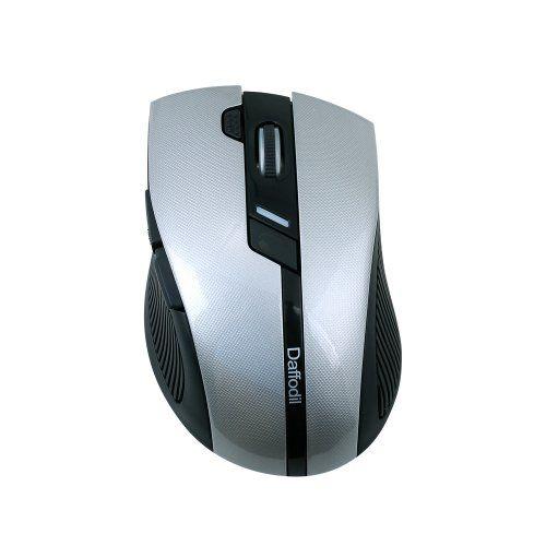 Daffodil WMS615 - Kabellose optische Mouse - Gaming Maus mit Scollrad, verstellbarer Abtastrate, Polling Rate und Schnellfeuertaste - Kompatibel mit Microsoft Windows (8 / 7 / XP / Vista) und Apple MAC (OS X +)