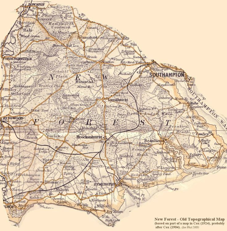 Map of the New Forest.
