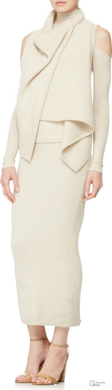 Donna Karan  ● Cashmere Turtleneck & Tube Skirt