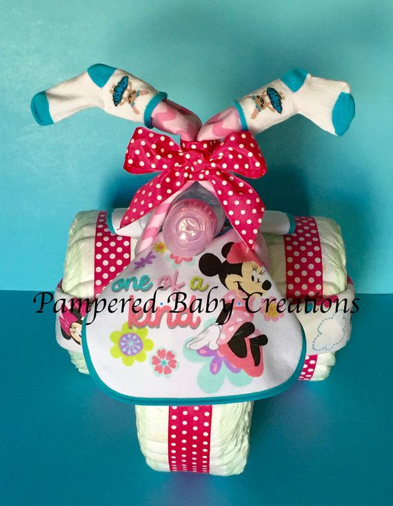 Minnie Mouse Tricycle  Diaper Tricycle  by PamperedBabyCreation