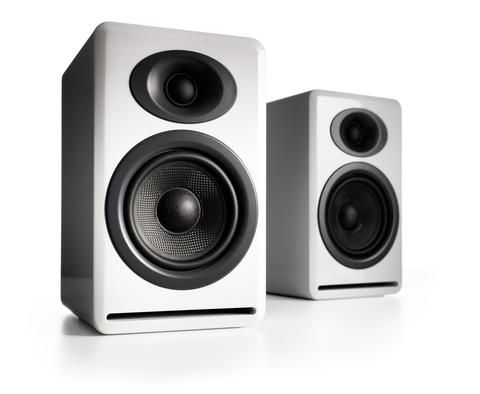 Audioengine P4 Passive Bookshelf Speakers, White - direct audio