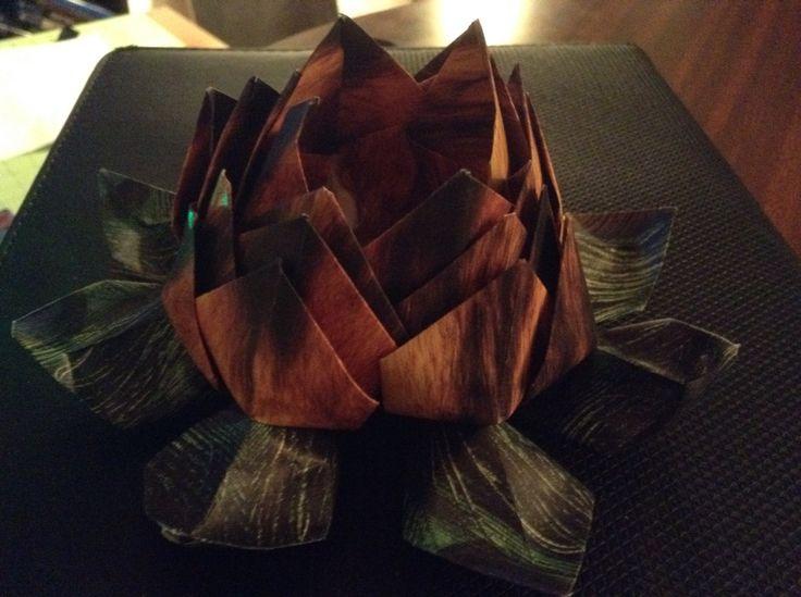 I made modular origami lotus flower.
