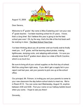 STUDENT WELCOME LETTER - TeachersPayTeachers.com
