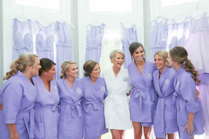 Bridesmaids Robes Bridesmaid Gift Monogrammed Robe for Wedding Party Monogram Robe Short Kimono Waffle Weave
