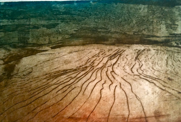 "Print by Mireia Rosich. ""Desert"", etching, 2010"