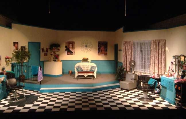 The set of Steel Magnolias, 2014, directed by Paula Mabry and designed by Edwin Ellis