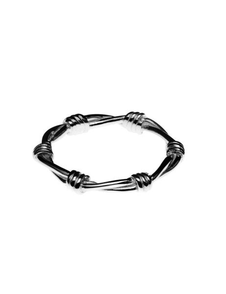 STOLEN GIRLFRIENDS CLUB - Barbed Wire Skinny Ring $144