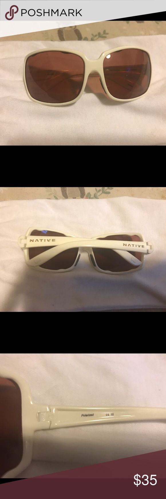 "Women's native brand sunglasses Native brand, women's, color snow, style ""Clara"" never been worn. Native Accessories Sunglasses"