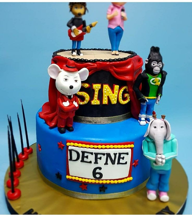 16 best SING CAKE images on Pinterest Birthday party ideas Cake