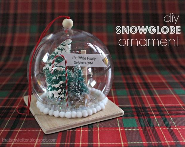 Today I'm sharing a DIY snow globe ornament with a wood base that makes a perfect gift for anyone big or small.