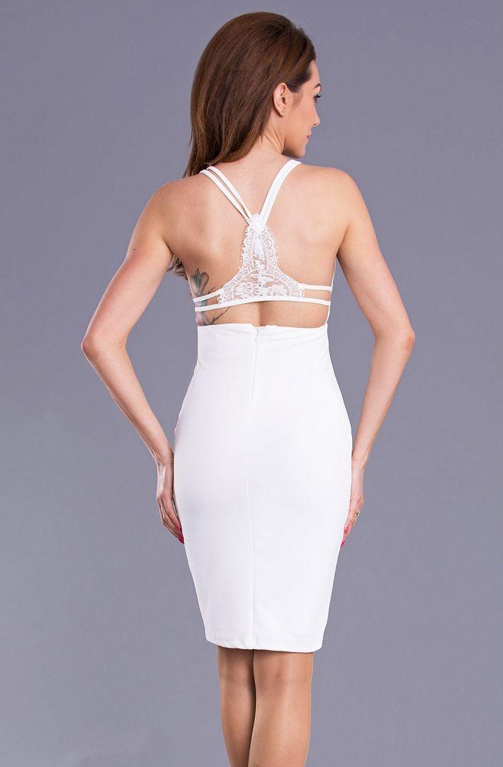Sukienka z wycięciem na plecach. #modadamska #moda #sukienkikoktajlowe #sukienkiletnie #sukienka #suknia #sukienkiwieczorowe #sukienkinawesele #sukienkikoronkowe #allettante.pl