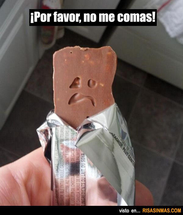 ¡Por favor, no me comas!   (I hate to be a party pooper, but it should be comes...)<<< bahaha, spanish grammar at its finest!