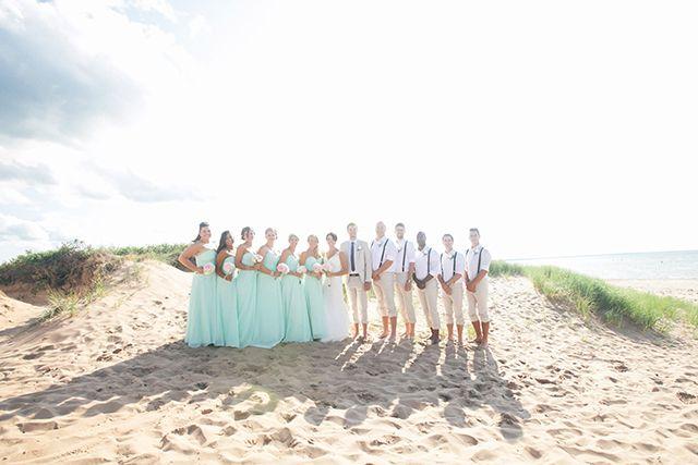 Vintage chic beach wedding in Charlottetown, PEI