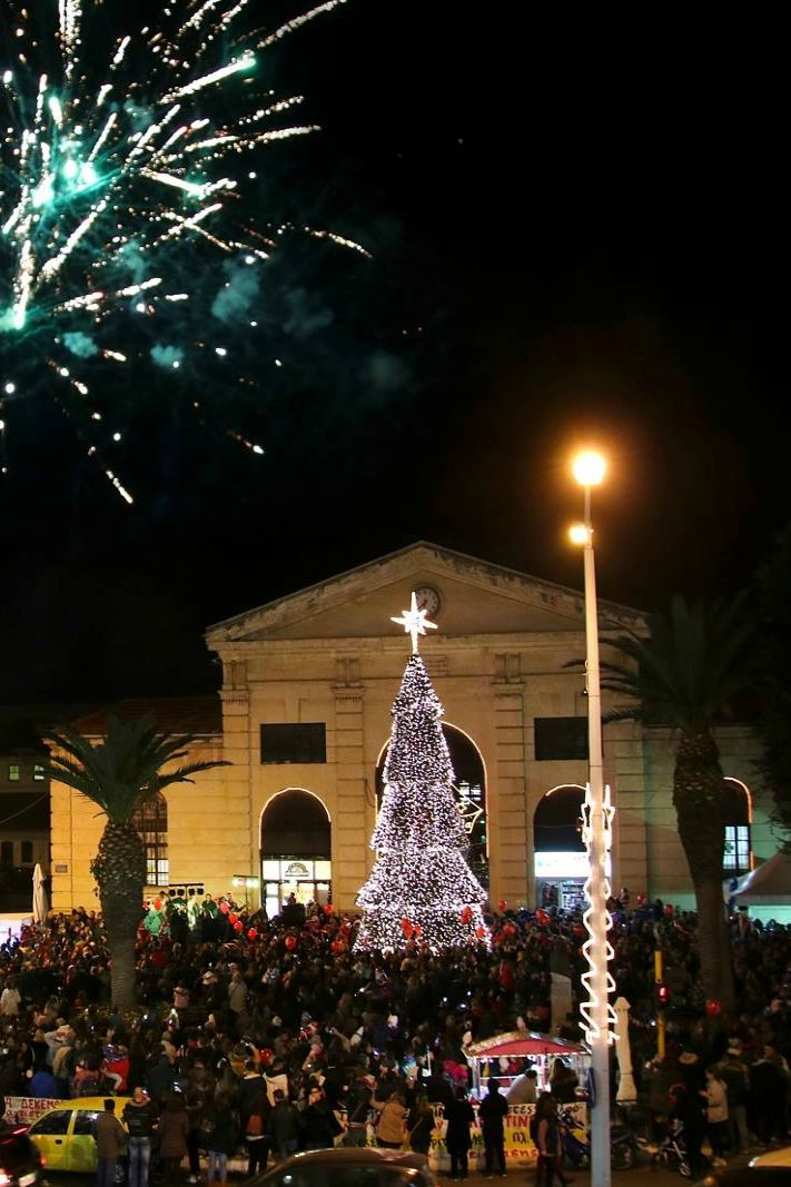 Christmas Tree in the Public Market of Chania! #christmas #travel #crete