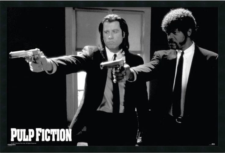 Amanti Art Pulp Fiction Duo Guns Framed Art Gel Coated AA177272 | LampsUSA
