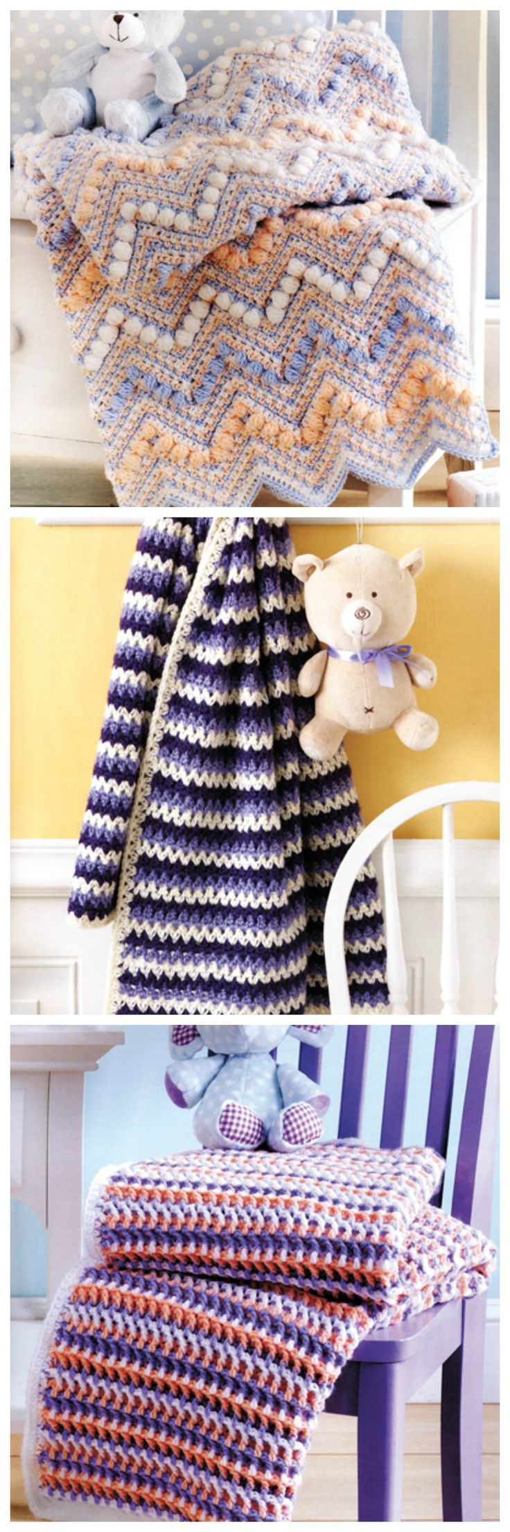 34 Best Images About Crochet Baby Blanket Patterns On
