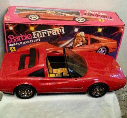 Barbie Vintage Red 1986  Ferrari Car Convertible Mattel   Etsy