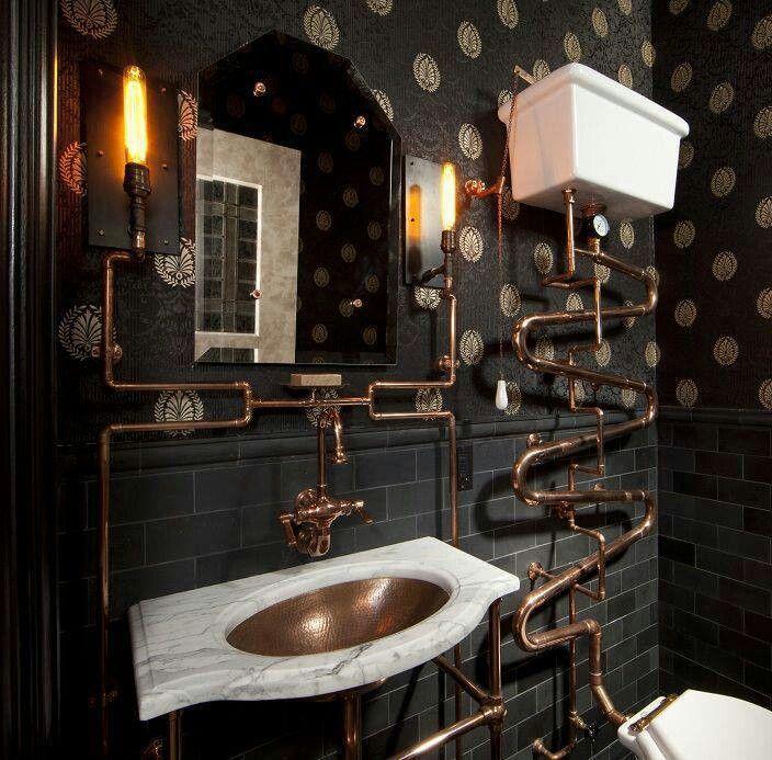 Steampunk. Bathroom.