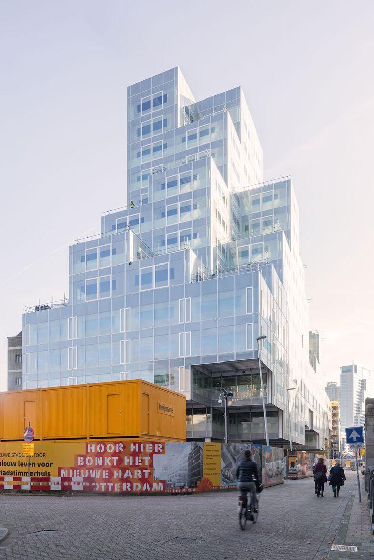 OMA stadskantoor volume toren kantoor gevel schrijnwerk terrassen gevel stapeling