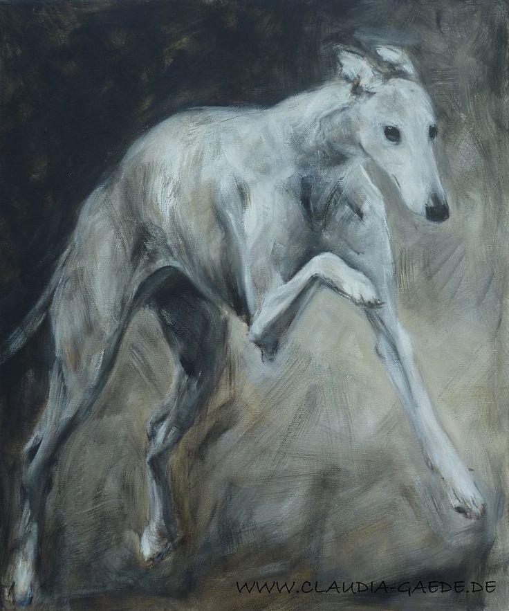 Galgo/Greyhound Acrylic on canvas, 60 x 50 cm