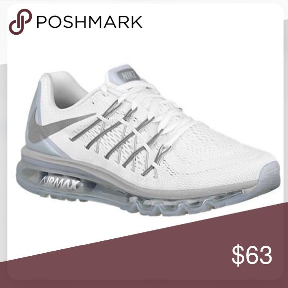 Nike Airmax White nike airmax, have worn twice, they're too small for me unfortunately! These will fits men's size 7 and women's size 8 and a half! Shoes Sneakers