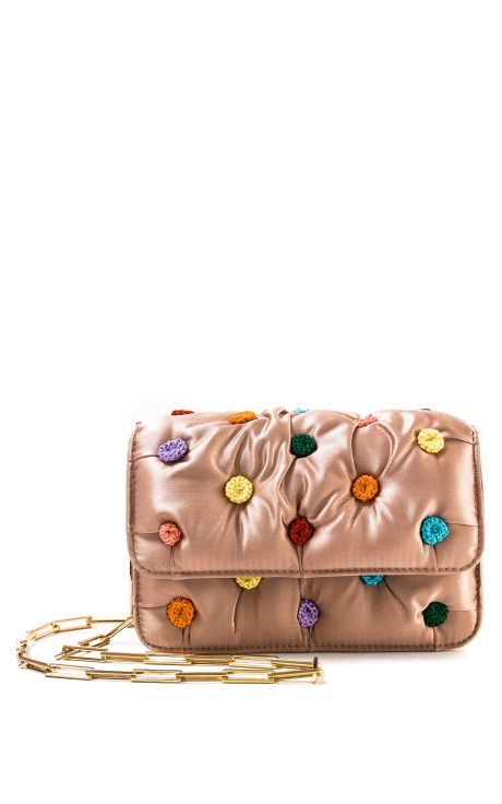 Shop Satin Smarties Carmen Clutch by Benedetta Bruzziches for Preorder on Moda Operandi