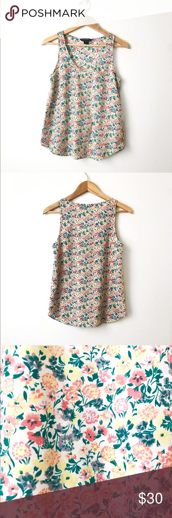 French Connection sleeveless foral top Sleeveless floral top. Flowy comfortable silky material. Gorgeous for summer . French Connection Tops Blouses
