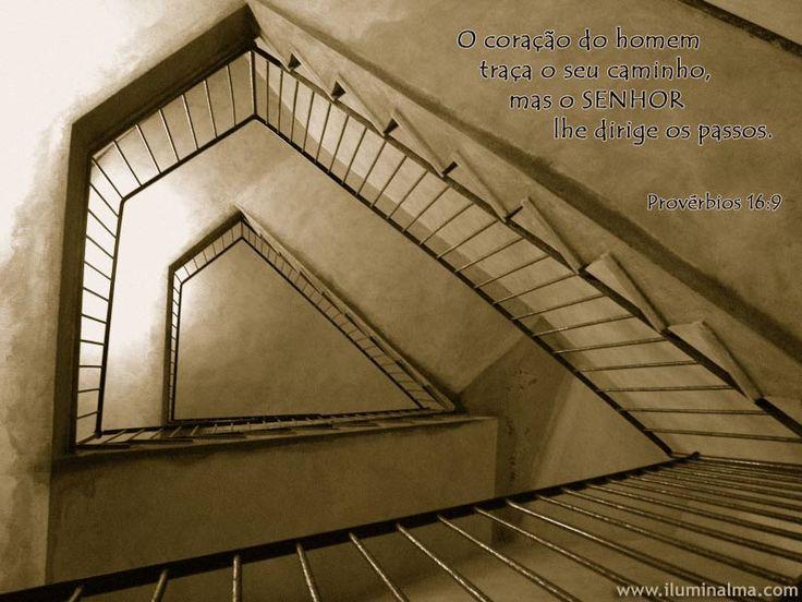 Provérbios 16:9 § il cuore dell'uomo traccia il suo cammino, ma è il Signore che ne dirige i passi §