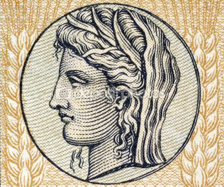 Деметры, древнегреческой богини — стоковое изображение #1418370