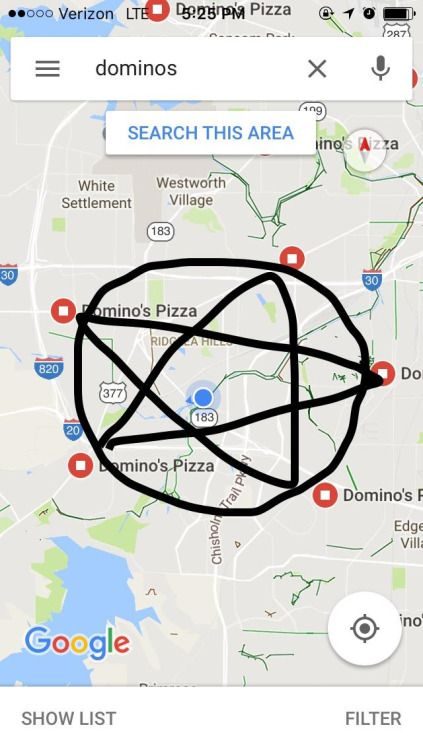 Some people say the pentagram protects my house from evil...