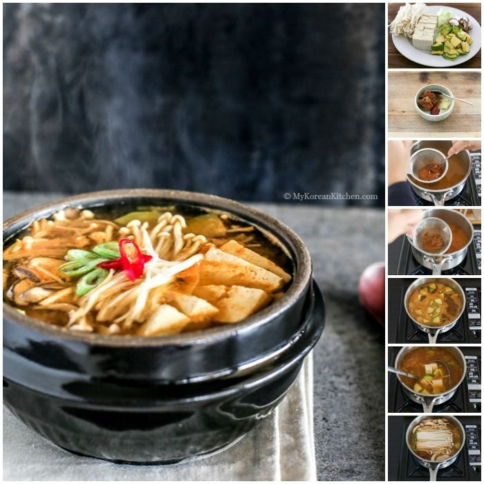 278 best korean food recipes images on pinterest korean cuisine authentic korean soybean paste soup doenjang guk recipe its easy delicious and forumfinder Choice Image