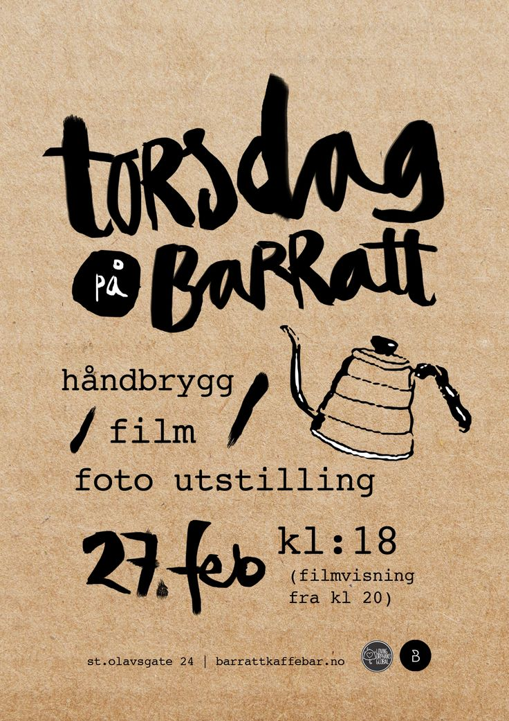 Event, Barratt Kaffebar http://www.barrattkaffebar.no