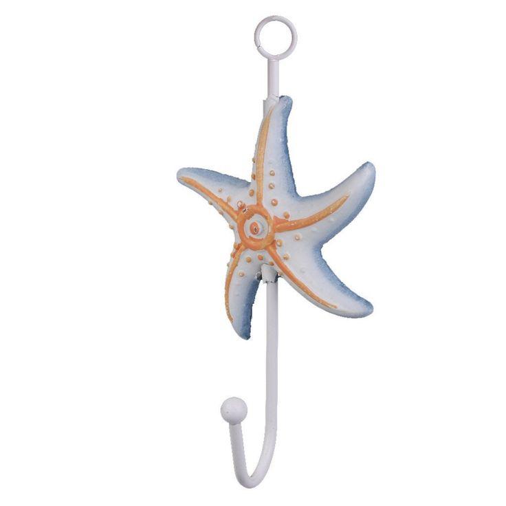 1pc Resin Hat Towel Clothes Hook Hanger Door Wall Mounted Mediterranean Starfish: Amazon.co.uk: Kitchen & Home