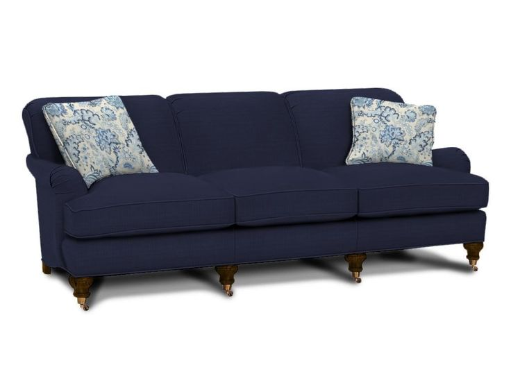 Admirable Blue Sofa Designs For Fascinating Living Room Dazzling Navy With Three Seat Pads And Comfy Backrest Also Unique Legs Catchy