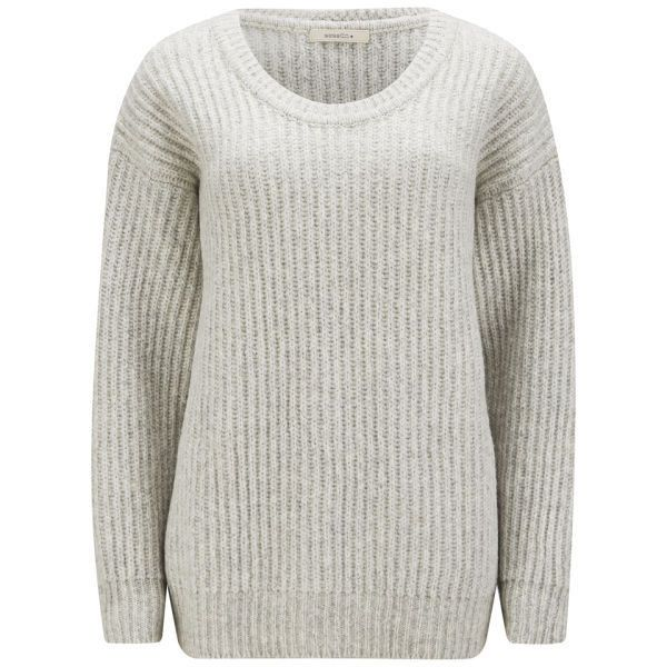 Sessun Women's Altiplano Chunky Knit Jumper - Light Stone (590 DKK) ❤ liked on Polyvore