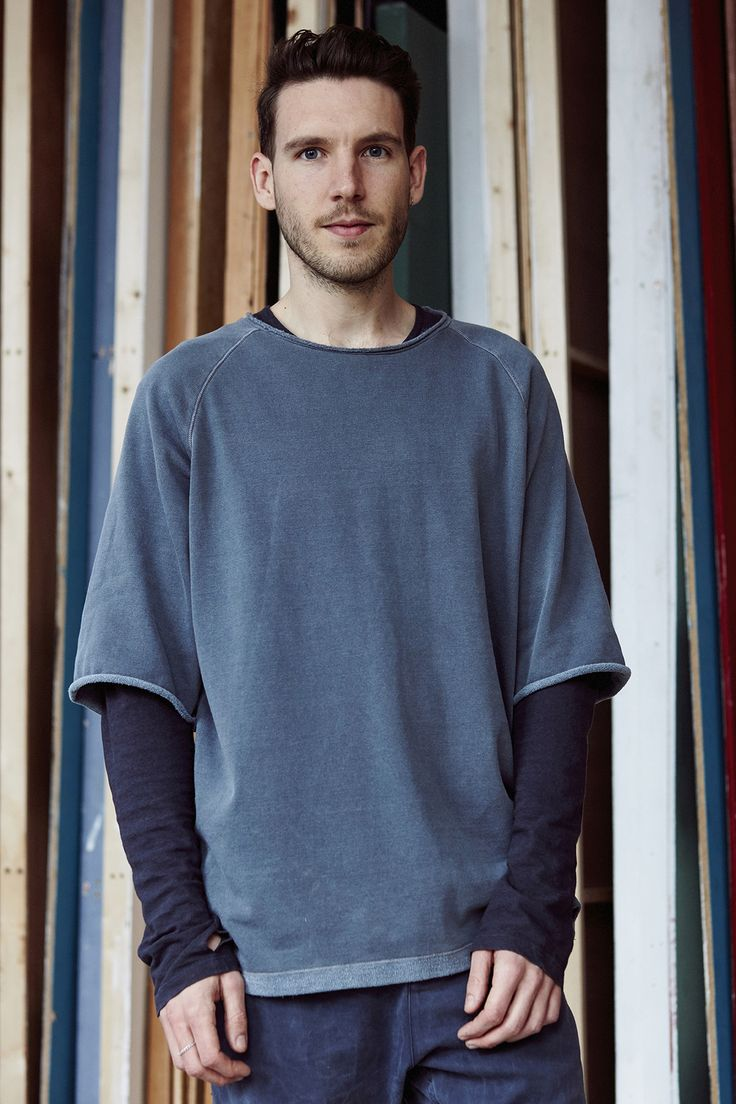 Set designer Robert Storey in Filippa K sweater and t-shirt. Interview on @itsnicethat